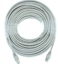 ECL-WIR-CAT5e-100 100ft Foot Network Patch Cable - WHITE COLOR